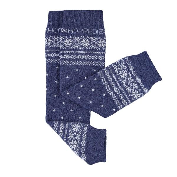 Hoppediz Babystulpen Kaschmir/Merinowolle Norweger blau