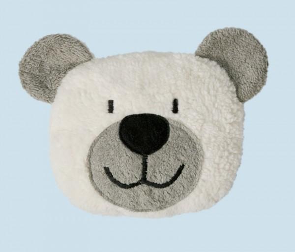 Efie Wärmekissen Dinkelkorn Teddy weiß-grau
