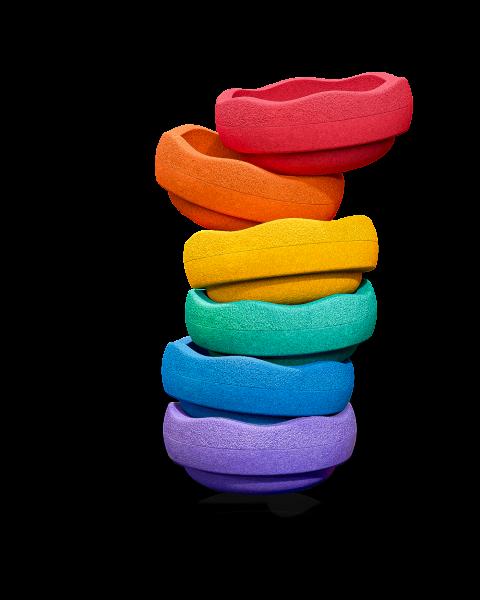Stapelstein COLORS Rainbow basic Set-6 violet/blue/green/yellow/orange/red