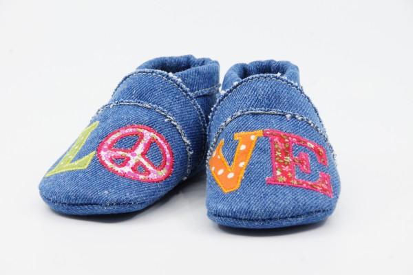 Anna und Paul Krabbelschuhe Vegan Love Jeans Jeans