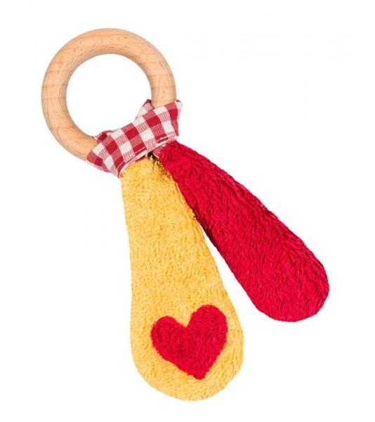 Efie Holzspielzeug Beißring gelb/rot