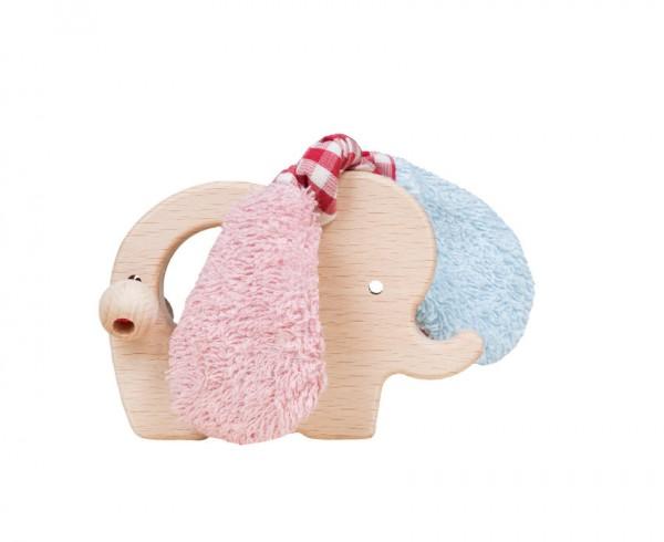 Efie Greifling Elefant rosa/blau
