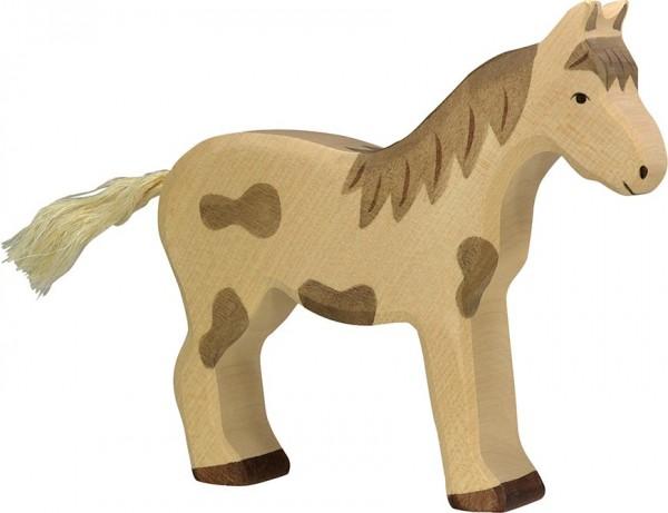 Pferd, stehend, gefleckt