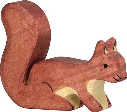 Eichhörnchen, stehend, braun