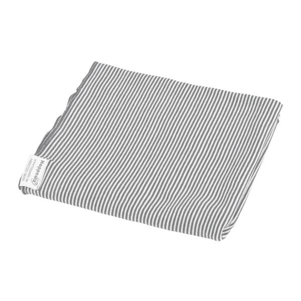 Hoppediz Pucktuch, Puckdecke grau-weiß 0,90mx0,90m