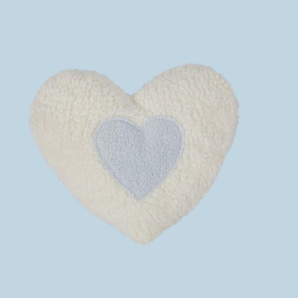 Efie Wärmekissen Dinkelkorn Herz natur hellblau