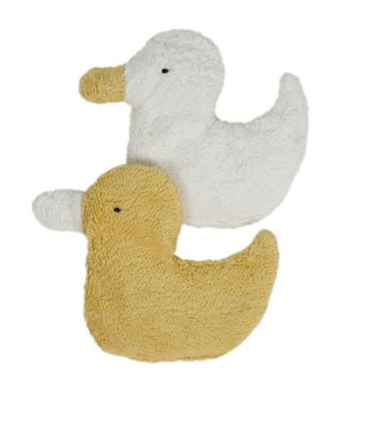 Efie Greifling Ente mit Kirschkernen weiß