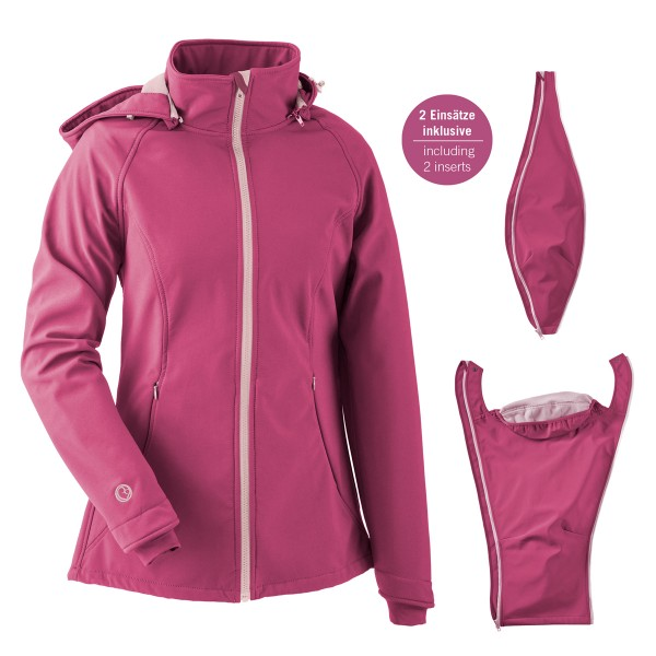 Mamalila Softshell-Tragejacke Allrounder pink