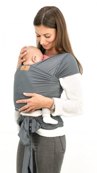 HÄNSCHENKLEIN Baby Wrap elastisches Tragetuch STONE