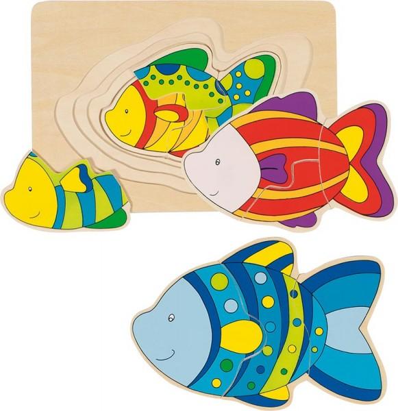 Schichtenpuzzle Fisch