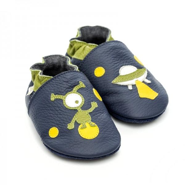 Liliputi® Krabbelschuhe Soft Baby Shoes Ufo