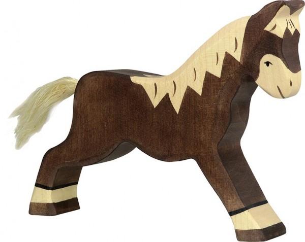 Pferd, laufend, dunkelbraun