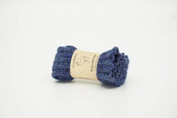 De Colores Armstulpe Kind Rippstrick jeansblau meliert