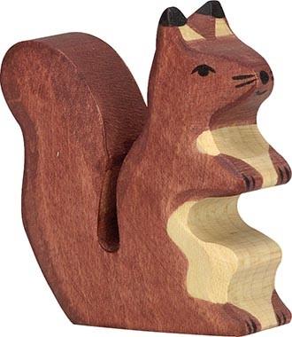 HOLZTIGER Eichhörnchen, braun