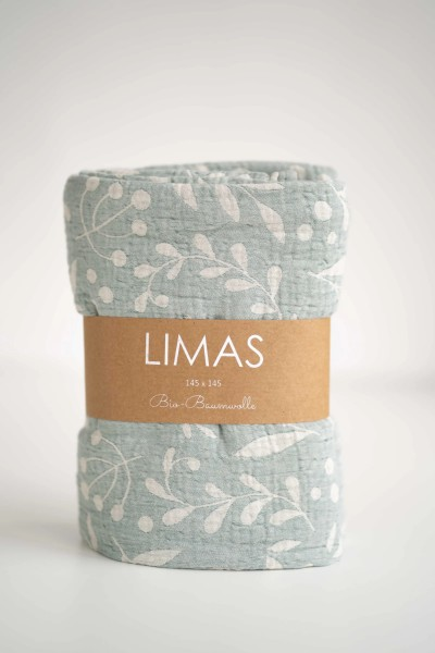 Limas Musselin Decke Flora Mint