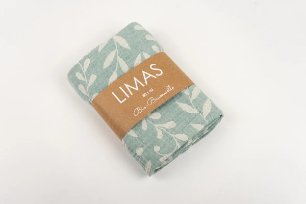 Limas Musselin Tuch Flora Mint