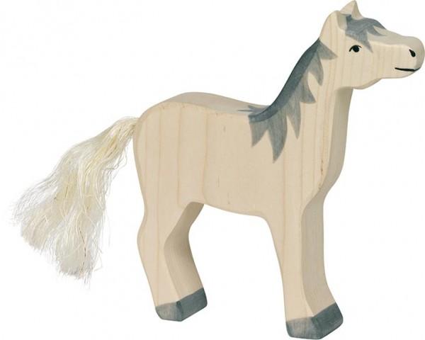 Pferd, Kopf hoch, graue Mähne