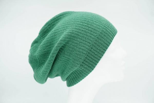De Colores Mütze Linksstrick apfelgrün