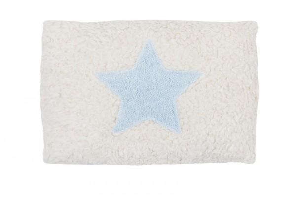 Efie Kissen klein Stern hellblau