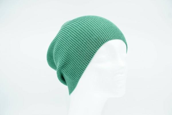 De Colores Mütze Rippstrick Längsrippe apfelgrün