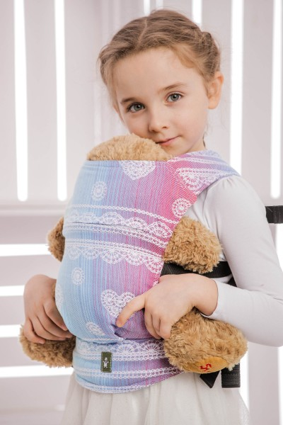 LennyLamb Puppentragehilfe Rainbow Lace Jaquardwebung, 100% Baumwolle Standard