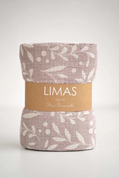 Limas Musselin Decke Flora Blush