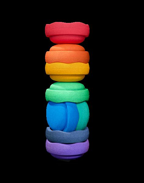 Stapelstein COLORS Rainbow great Set-8 violet/dark blue/blue/green/light green/yellow/orange/red