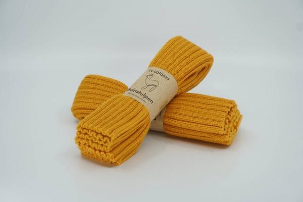 De Colores Beinstulpe Erwachsene Rippstrick maisgelb