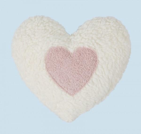 Efie Wärmekissen Dinkelkorn Herz natur rosa